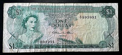 "1974 Bahamas $1 One Dollar ""Allen"" Prefix S/I - P-35b - FREE COMBINED S/H"