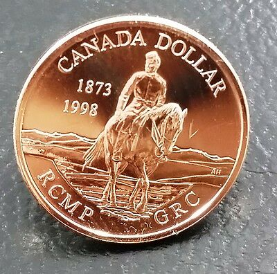 1998 Canada Rcmp .925 Sterling Silver Dollar Pin - Great Item!!!