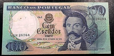 PORTUGAL: 1978 100 Escudos P-169b Series GXH **XF CONDITION** FREE COMBINED S/H