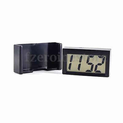 Mini LCD Automotive Digital Car Clock Self-Adhesive Stick Time Portable Small