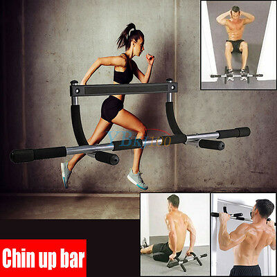 Gym Fitness Chin Up Bar Pull Up Strength Situp Dips Exercise Workout Door Bars H