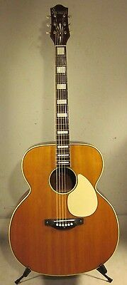 Vintage 1950's Sherwood Deluxe Jumbo Acoustic Guitar With Original Case USA