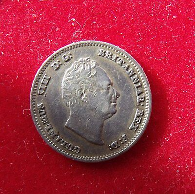 1836 King William IV Groat .925 Silver British Fourpence 4d Coin Space filler