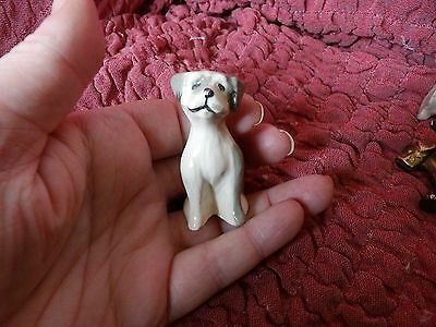 Small Vintage Pottery Seated Old English Sheepdog (Dulux Dog) Figurine
