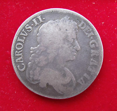 1670 CHARLES II CROWN COIN Great Britain .925 Silver