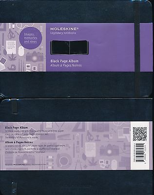 Moleskine Hardcover Black Page Album Large 32 page 21 x 13 cm NEW