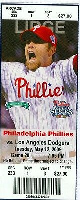 2009 Phillies vs Dodgers Ticket: Jayson Werth stole second, third & Home