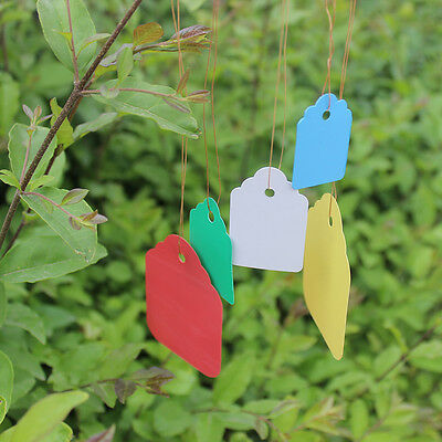 100 Strip Line Hanging Tags Flexible Plastic Waterproof Plant Marker Labels ZHNG