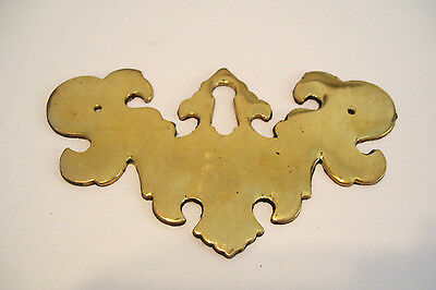 Large Key Hole Escutcheon  Cast Brass Georgian Style New Old Stock