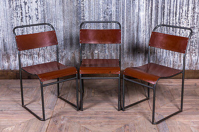Vintage Bakelite Stacking Chairs With Gunmetal Frame