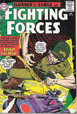 Our Fighting Forces Comic Book #90 Gunner and Sarge, DC Comics 1965 VERY GOOD