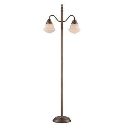 Lite source towne 2 light floor lamp antique copper frost glass lite source towne 2 light floor lamp antique copper frost glass ls aloadofball Gallery