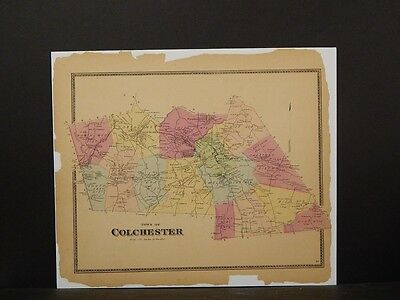 Connecticut, New London County Map, Town of Colchester 1868 #12