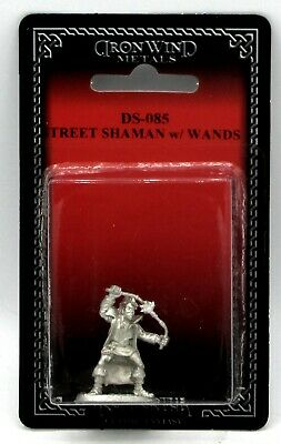 Ral Partha DS-085 Shadowrun Street Shaman with Wands Mage Wizard Magician Hero