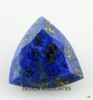 Lapis Faceted 19 Mm Trillion Cut All Natural Gemstone