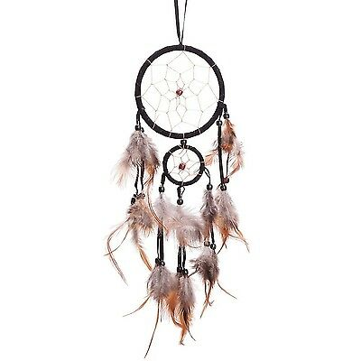 """18"""" Traditional Black Dream Catcher with Feathers Wall or Car Hanging Ornamen..."""