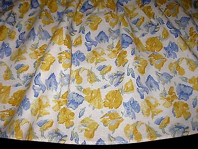 Vintage LAURA ASHLEY SWEET PEA Charlotte Confetti Floral QUEEN Size BEDSKIRT USA