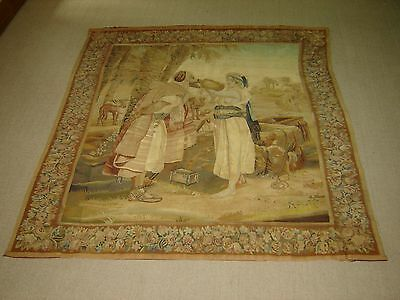 Antique 17th Century Flemish Brussels Old Testament Biblical Tapestry Signed.
