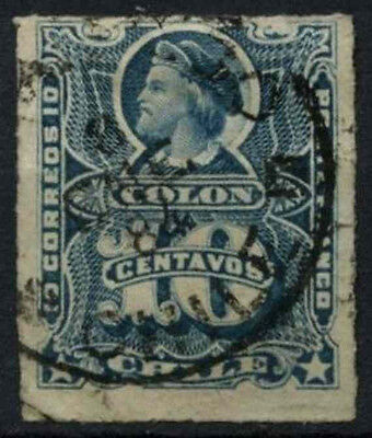 Chile 1877 SG#52, 10c Blue Used #D37460