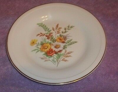 """Edwin M. Knowles China Saucer Plate Semi Vitreous Floral Design  6 1/2"""" W"""