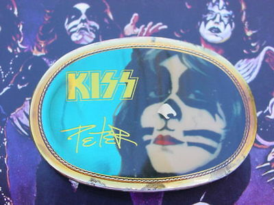 Pacifica Kiss 1977 77 Kiss Peter Criss Belt Buckle -Nice!