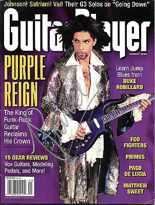 Prince The Artist Autographed Guitar Player Magazine