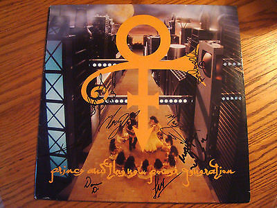 Prince Love Symbol Record Lp Autographed By Band 1993