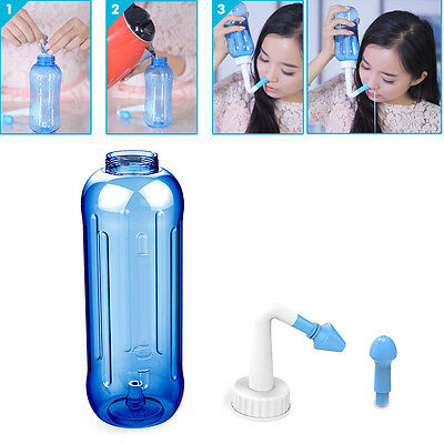 500ml Adults Children Nose Wash System Pot Sinus & Allergies Relief Rinse Neti