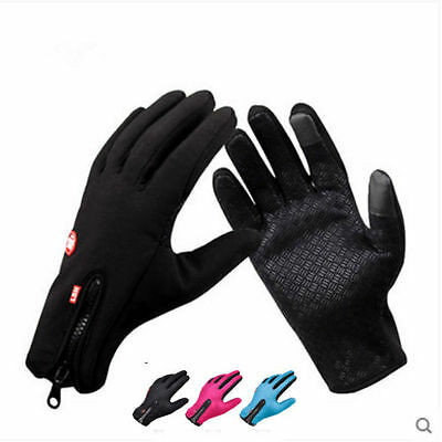 Men Women Touch Screen Thermal Windproof Gloves Outdoor Ski Cycling Motorcycle