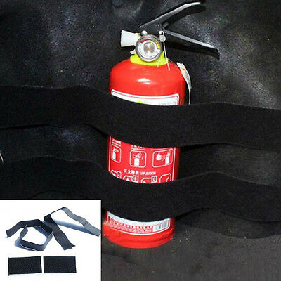 2x Car Trunk store content bag Rapid Fire extinguisher Holder Safety Strap Kit