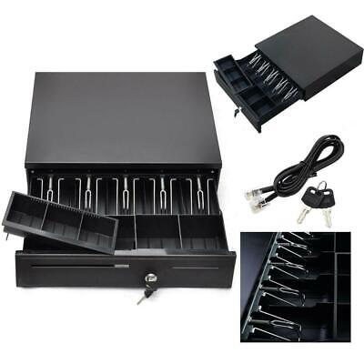 New Cash Drawer Box Works Compatible Epson/Star POS Printers 5Bill 5Coin Tray