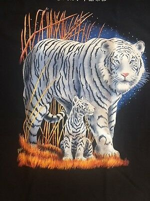 White Tiger & Cub T Shirt Pick Your Size Youth Medium to 6 X Large