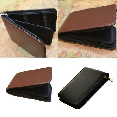 Luxury Black/Coffee Soft Leather Pen Case/Holder/Pouch Handmade Holds 12/48 Pens