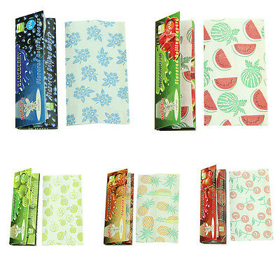 Lots 5 Fruit  250 Leaves Flavored Smoking Cigarette Hemp Tobacco Rolling Papers