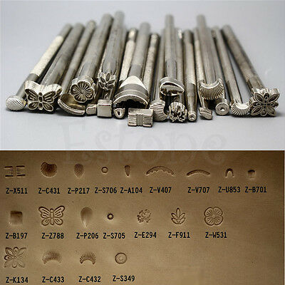 9/16/20pcs Leather Working Saddle Making Tools Carving Leather Craft Stamps Set