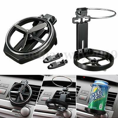 Car Vehicle Folding Drink Bottle Cup Holder Stand Mount With Fan Black Universal