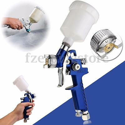 Mini Air Paint Spray Gun 0.8mm HVLP Touch Up Low Pressure Nozzle 125ml Cup Kit