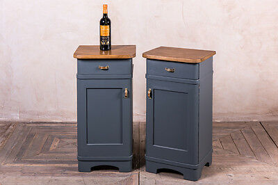Pair Of Bedside Cabinets 1930S Painted Pine Bedside Cupboards