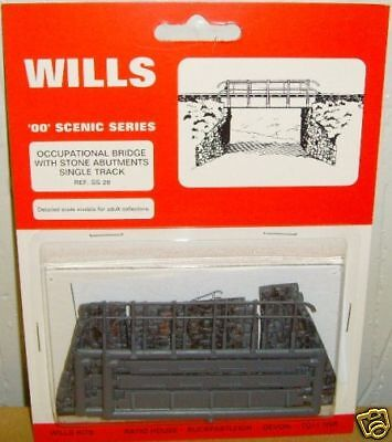 Wills SS28. Occ. Bridge Single Track Kit NEW (00 Gauge)