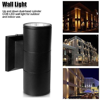 Up And Down Wall Light Led Cfl Stainless Steel Outdoor Indoor Garden Patio Uk