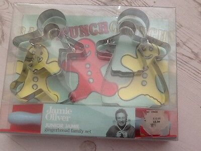 Jamie Oliver Junior Jamie Gingerbread Family Set Brand New