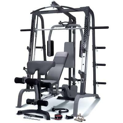 Marcy SM4000 Deluxe Smith Machine Home Multi Gym & Incline Decline Weight Bench