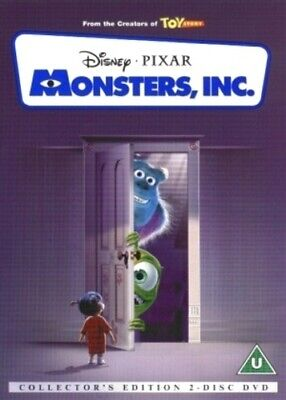 Monsters, Inc. DVD (2002) Pete Docter cert U 2 discs FREE Shipping, Save £s