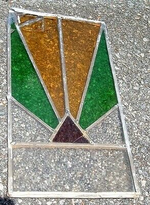 Vintage STAINED GLASS window or decor reflection piece