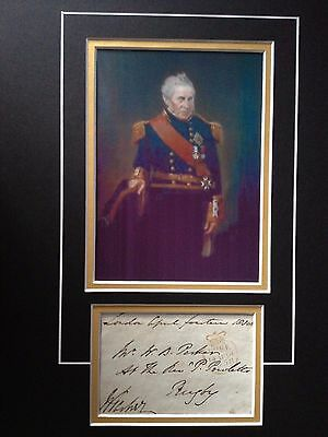 Sir William Parker - Admiral Of The Fleet - Excellent Signed Colour Display