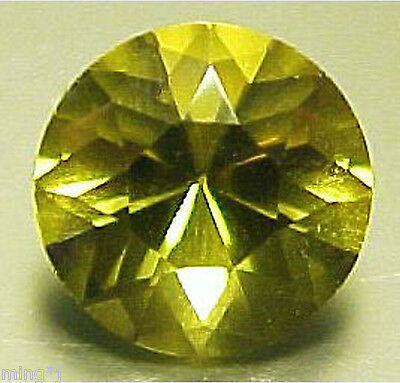 9 mm ROUND CUT NATURAL OLIVE GREEN QUARTZ #R524