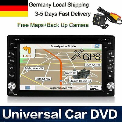 AUTORADIO MIT DVD GPS NAVIGATION TOUCHSCREEN BILDSCHIRM BLUETOOTH 2 DIN Kamera