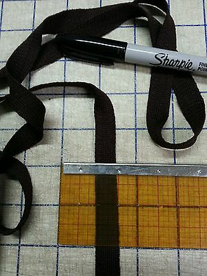 "2 Yard Chocolate Brown 1/2"" Wide Flat Knit Webbing Bind It Tape Trim Crafts VTG"