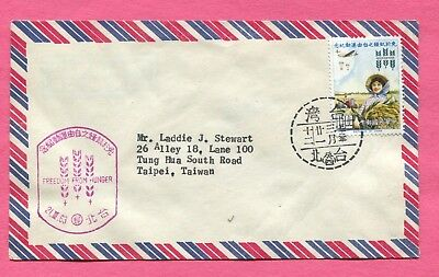 1963 Taiwan China Freedom From Hunger #1367 Fdc Cover