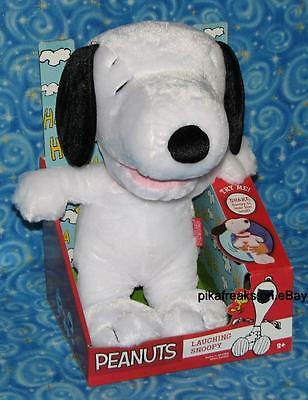 """New Peanuts Laughing Snoopy Plush 11"""" Toy Next Day USA Shipping"""